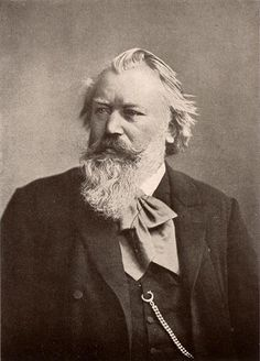 Johannes BRAHMS (1833-1897)  ~  He was a composer of the Romantic Era, but he looked to Classical composers and Beethoven in particular for his inspiration. He was a master craftsman of symphonies, concertos and chamber music, with many songs and pieces for solo piano.