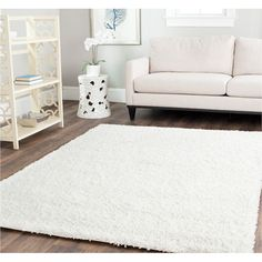 """Caroline Shag Rug in White"" White is always the answer!"