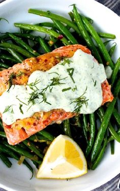 Low FODMAP and Gluten Free Recipes - Salmon with green bean salad --- http://www.ibssano.com/low_fodmap_recipe_salmon_green_bean_salad.html