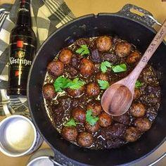 Bierfleisch mit Semmel Knödeln Rezept - Dutchoven - Bigmeatlove