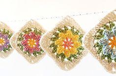 Dada's place: Primavera Flowers Granny Square Tutorial