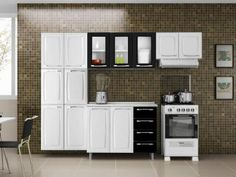 Cozinha Compacta Max II Criativa 11 Portas - Itatiaia + Balcão com Tampo 2 Portas 4 Gavetas