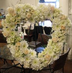 Heart wreath for a funeral