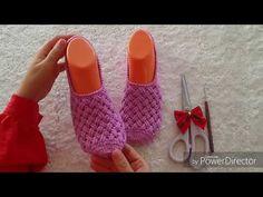 Sepet örgü modeli patik yapımı - YouTube