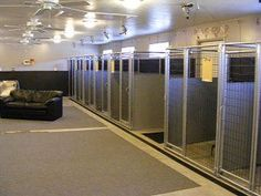This is an outstanding example of an indoor/outdoor dog boarding facility in Ohio using Options Plus Modular Dog Kennel Panels. Photos by Andrea and Doug Groves of Happy Tails Dog Resort. How To Build An Indoor Outdoor Dog Kennel Dog Kennel Panels, Dog Kennel Cover, Diy Dog Kennel, Kennel Ideas, Dog Kennels, Building A Dog Kennel, Build A Dog House, Dog House Plans, Outdoor Dog