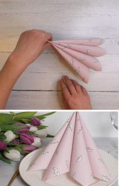 Paper Napkin Folding, Paper Napkins, Food Decoration, Table Decorations, Dining Etiquette, Butterfly Cakes, Paper Crafts For Kids, Bead Jewellery, Diy Box