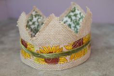 Fabric Burlap Crown - Princess Scarecrow