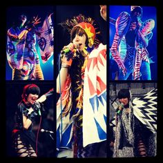 Karen O Yeah Yeah Yeahs #fashion Karen O, Cool Guitar, Rock N Roll, Fiber Art, Costumes, Lady, Music, People, Fashion