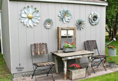 Garden junk shed by Organized Clutter, featured on Funky Junk Interiors