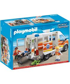 Buy Playmobil Ambulance with Siren at Argos.co.uk - Your Online Shop for Toy cars, vehicles and sets.