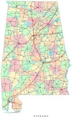S Antique Map ALABAMA By KnickofTime I Bought This And - Alabama on a map of us