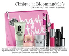 A free 7-pc Clinique gift when you spend $50 at Bloomingdales during their Beauty Treats beauty event.