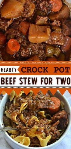 12 reviews · 7 hours · Serves 2 · This Crock Pot Beef Stew for Two is an easy slow cooker recipe full of hearty flavors and goodness! It is the perfect crockpot meal to add to your other delicious recipes for dinner. Try this for a… Slow Cooker Beef, Slow Cooker Recipes, Crockpot Recipes, Easy Dinner Recipes, Delicious Recipes, Tasty, Quick Weeknight Meals, Easy Family Meals, Homemade Soup