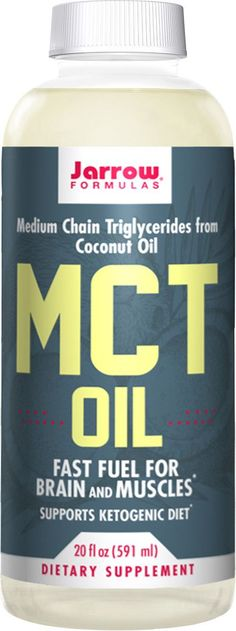 MCT Oil, Medium Chain Triglycerides from Coconut Oil, Fast Fuel for Brain and Muscles* Supports Ketogenic Diet*, 20 fl oz