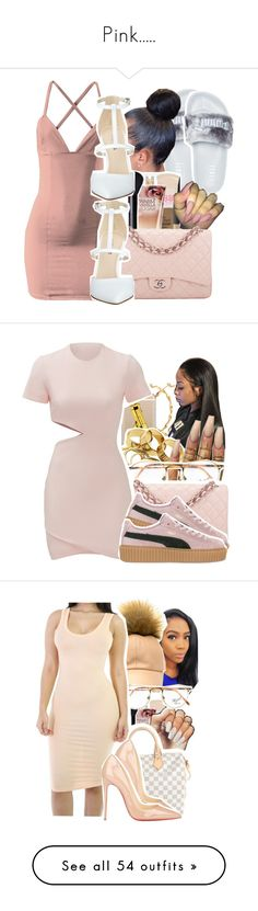 """""""Pink....."""" by ashley-mundoe ❤ liked on Polyvore featuring Puma, Chanel, Nine West, Casetify, Floss Gloss, Persol, Elizabeth and James, Louis Vuitton, Christian Louboutin and ASOS"""
