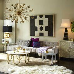 A Technically Perfect Living Room Design, and the Modern Master Jonathan Adler Living Room Inspiration, Luxury Furniture, Living Room Designs, Home Decor Trends, Trending Decor, Luxury Modern Furniture, Home Decor, Room Design, Retro Home Decor