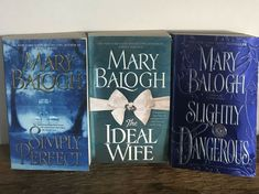 Simply Perfect, Slightly Dangerous and The Ideal Wife by Mary Balogh 3 Books