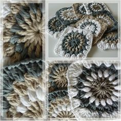 Color inspiration for grannies #Haakwerk #Grannysquares, of helemaal wit?