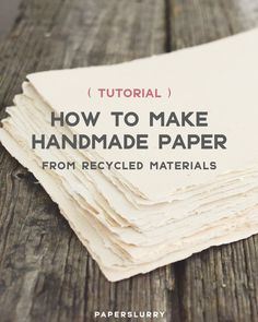diy book making Heres How to Make Handmade Paper from Recycled Materials Papier Diy, Diy Inspiration, Handmade Books, Handmade Journals, Handmade Crafts, Handmade Headbands, Handmade Rugs, Diy Paper Crafts, Handmade Notebook
