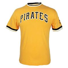 Get this Pittsburgh Pirates Gold Wordmark Remote Control T-Shirt at ThePittsburghFan.com