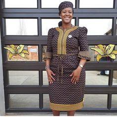 Best Shweshwe Styles Of This Week - isishweshwe Sotho Traditional Dresses, Traditional Dresses Designs, African Fashion Traditional, Best African Dresses, Latest African Fashion Dresses, Seshweshwe Dresses, Xhosa Attire, African Attire, Seshoeshoe Designs