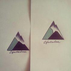 Geometric tattoo Mountain proof
