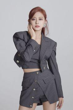 Nayeon, Dance Fashion, Kpop Fashion, Fashion Outfits, Korean Fashion, South Korean Girls, Korean Girl Groups, Twice Tzuyu, Twice Photoshoot