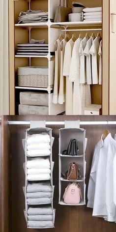 Wardrobe Organisation, Small Closet Organization, Wardrobe Storage, Wardrobe Closet, Closet Bedroom, Organization Ideas, Organize Bedroom Closets, Organizing Wardrobe, Small Closet Storage