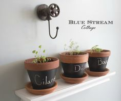 Cast Iron Garden  Hook  Potting Shed Decor  by BlueStreamCottage