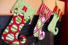 christma stock, holiday ideas, tutorials, templat, jingle bells, toes, christmas stockings, holiday crafts, elves