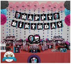 SALE Monster High Birthday Party decoration by LilFacesPrintables, $18.95
