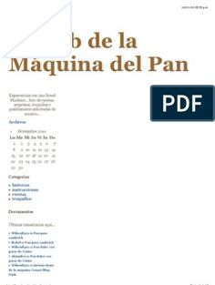 El club de la Máquina del Pan RECETAS Easy Cooking, 30 Day, Bakery, Club, The World, Onion Bread, Apple Bread, Bread Machine Recipes, Chocolate Candies