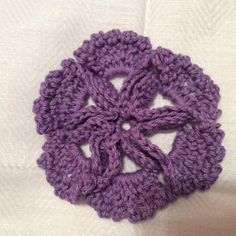 Viola Color or Select Color Crochet Flower by NKnitting on Etsy, $7.00