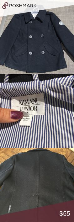 Armani coat Original Armani coat for boy 2-4 yo. Wears only 2 times. Excellent condition. Original price was 380$ Armani Junior Jackets & Coats Blazers
