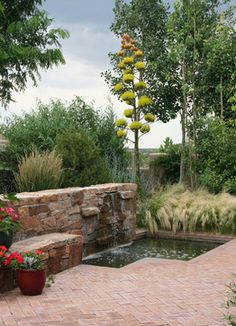 Traditonal Southwest Garden - mediterranean - landscape - albuquerque - Clemens & Associates Inc.