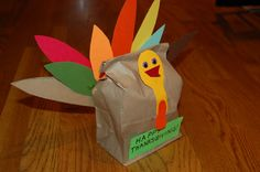 Thanksgiving craft from the heart Turkey goodie bag! Fill this bag with fun goodies to give to a teacher, relatives, or a friend1