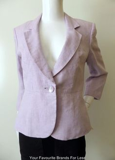 Kaliko Jacket Size 10 US 6 Euro 36 Linen | eBay This Kaliko jacket lends itself to be dressed up or down. Team it with a short skirt or slim dress for a sophisticated look or wear it with jeans for casual outings. It has notched lapels and one front button closure. The 3/4 length sleeves have two decorative buttons on the cuffs. The shoulders are padded and the jacket is fully lined. Made from 100% linen. Size 10, US 6 or EURO 36.