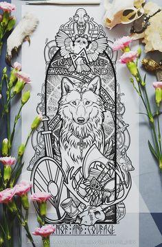 Anastasia Avina   Artist, tattoo's sketch-master, also I make prints and illustrations. You can find me here: vk.com/quidams_den   instagram.com/quidam.quidam.s.den