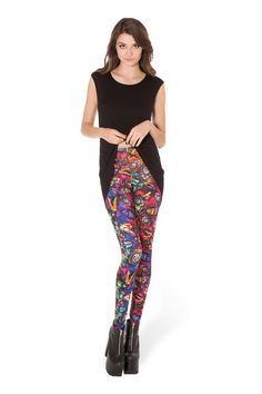 Bugs On Acid Leggings - LIMITED › Black Milk Clothing