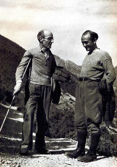 Οι λογοτέχνες Καρβούνης και Χατζής στο βουνό