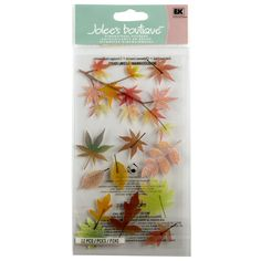 Make autumn-themed projects pop with texture and dimension. These dimensional fall leaves vellum stickers are perfect for scrapbooks, cards and other paper craft projects.