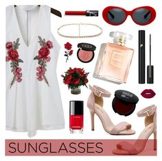 """""""Vintage Love: Retro Sunglasses"""" by dora04 ❤ liked on Polyvore featuring Lancôme, Chanel, Gucci, Lime Crime, vintage and RetroSunglasses"""