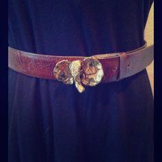 "Vintage Elaine Coyne handcrafted elephant belt Elaine Coyne, artist, has handcrafted this brass elephant belt. Gorgeous detail, excellent condition. This is a vintage piece. Elephant measures 2 by 3"". Belt measures 32"". Accessories Belts"