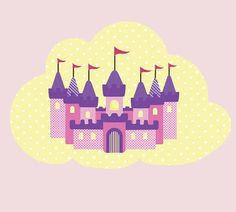Hey, I found this really awesome Etsy listing at https://www.etsy.com/listing/187638497/princess-castle-wall-decal-fabric-castle