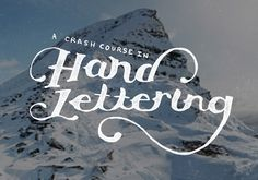 Crash Course in Hand-lettering for those looking for how to get into it. Beginner lettering Free and paid tutorials, people to follow & practice exercises.