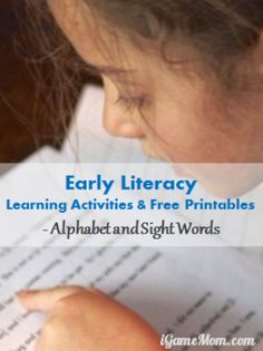Alphabet and Sight Word - Early Liberacy Learning Activities and Free Printables #LearnActivities