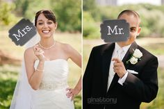 """""""mr."""" and """"mrs."""" signs // © gntphoto.com"""