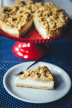 Mar 18 2020 - Vanilla cheesecake with apple crumble - Recipe for vanilla cheesecake with apple crumble American Cheesecake, Streusel Muffins, Apple Crumble Recipe, Canned Blueberries, Vegan Scones, Gluten Free Flour Mix, Scones Ingredients, Vanilla Recipes, Vegan Blueberry