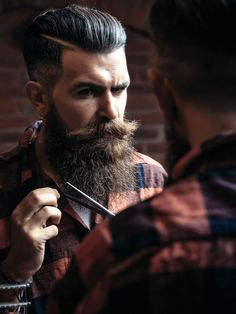 Beards: 40 Beard Style For Round Face Men. Face shape is an important factor to determine which beard style will suit on you. These are beard style for round face men to make your decision easier. Beard Game, Epic Beard, Full Beard, Men Beard, Mustache Growth, Beard No Mustache, Handlebar Mustache, Long Beard Styles, Hair And Beard Styles