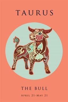 TAURUS astrology art poster 24X36 SYMBOLIC ZODIAC the bull CLASSIC UNIQUE